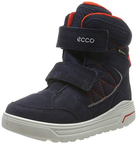 ECCO Jungen URBAN Snowboarder Hohe Sneaker, Blau (Night Sky/Fire 51629), 27 EU