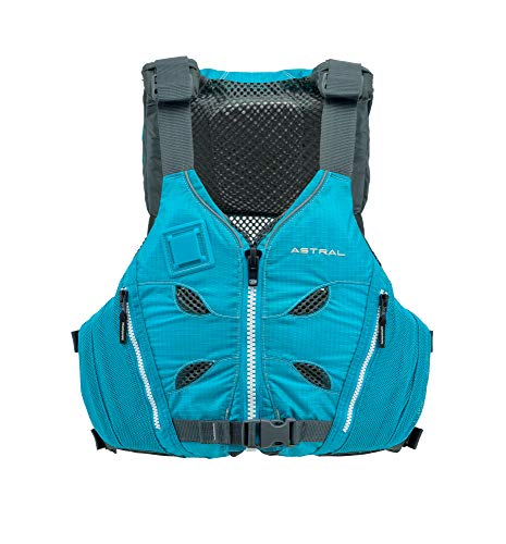 Astral V-Eight Life Jacket PFD for Recreation, Fishing and Touring Kayaking, Glacier Blue, L/XL