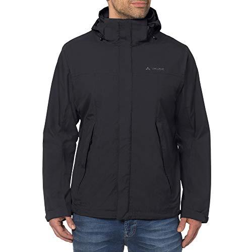 Vaude 04341 Herren Escape Light Jacket Regenjacke wind- und wasserdicht Kapuze, Groesse 50, schwarz