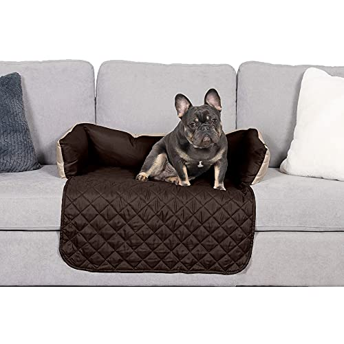 Furhaven Reversible Two-Tone Couch & Sofa Water-Resistant Furniture Cover Protector