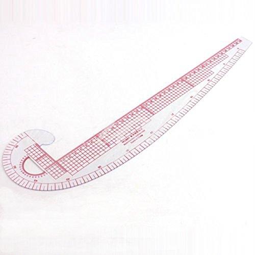 Jooks, französisches Kurvenlineal, 3-in-1, metrisch, flexibel, Kunststoff, für Schneider / Kleidung / Maßanfertigung, 2 Stück