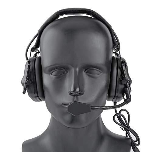HAOYK Airsoft Waterdichte Tactische Headset met Microfoon Functionele hoofdtelefoon zonder batterijklemmen