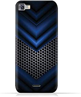 Infinix Zero 3 X552 TPU Silicone Protective Case with Abstract Blue Mesh Pattern
