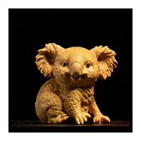 怠惰なコアラ動物の像ミニボックスウッドの彫刻家のアクセサリーリビングルームの装飾創造的な動物の装飾品クラフト動物