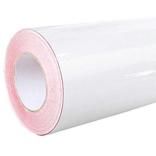 Rapid Teck® 4,75€/m² Glanz Folie - weiss - Klebefolie - 5m x 63cm - Plotterfolie- Folie selbstklebend - auch als Moebelfolie - Klebefolie