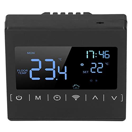 PUSOKEI Controlador de Suelo Radiante Inteligente, Pantalla táctil LCD WiFi Controlador de Suelo Radiante de bajo Consumo, termostato programable Suministros industriales