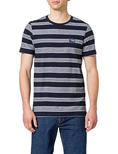 Jack & Jones JCOFLAME tee SS Crew Neck Camiseta, Navy Blazer/Fit: Slim, XL para Hombre