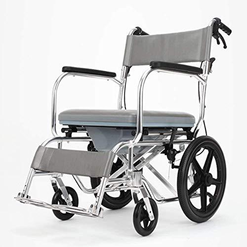 Syxfckc Rollstuhl Gehhilfen Rehabilitationsstühle, Rollstühle, Aluminium-Leichtbau Rollstühle for ältere Menschen, Behinderte Flugzeug manuell tragbare Reisetrolley Klapp