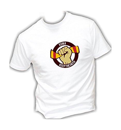 Social Crazy T-shirt voor heren van katoen basic super pasvorm topkwaliteit - Roma Ultras - grappige humor Made in Italy