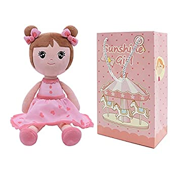 Conzy Stuffed Baby Doll Gifts for Girl Super Soft Buddy Cuddly Baby Girl Toy Gifts wtih Gift Bag 16.5 Inches in Standing
