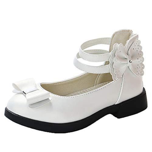 Zapatos de Princesa para niñas Zapatos Planos de Cuero con Lazo de...