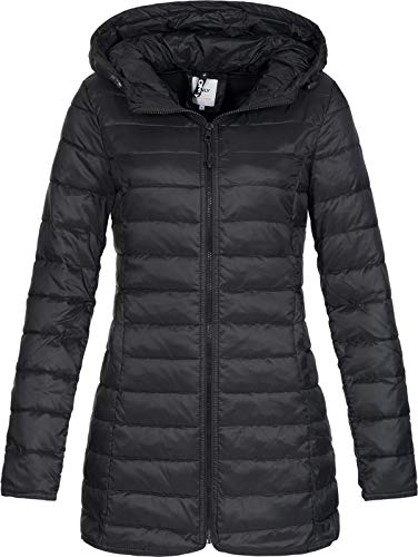 ONLY Damen Jacke Steppmantel Tahoe Coat (18) Kapuze 15156570 Black M