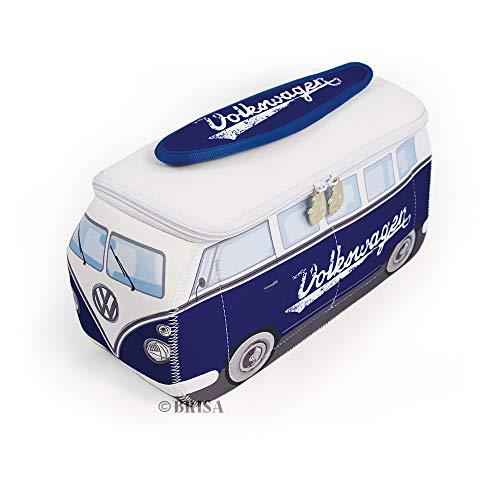 BRISA VW Collection Volkswagen VW T1 Bus Transporter 3D Neopreen Universele Zak - Klassiek/Blauw