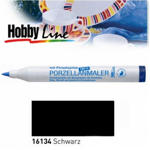 HOBBY LINE Porzellanmaler 160 °C mit Pinselspitze Schwarz-HobbyLine