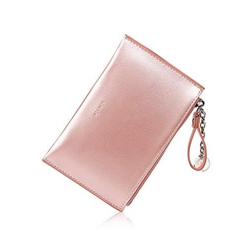 NICOLE & DORIS Portafoglio Donna Portafoglio PU Pelle Portamonete e Porta Carte di Credito Multi-slot Cerniera Portamonete Rosa