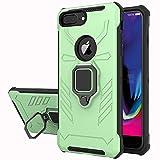 Yiakeng Funda iPhone 6 Plus/iPhone 7 Plus/iPhone 8 Plus, 360 Grados Proteccion Hard PC Silicona TPU Carcasa Antigolpes Case para iPhone 6 Plus/iPhone 7 Plus/iPhone 8 Plus (Verde Claro)