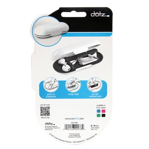 Dotz Earbud Case for Cord and Cable Management, Black (EBC38M-CK) Photo #4