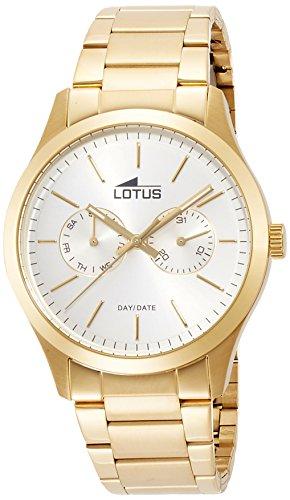 Lotus Reloj Analógico para Hombre de Cuarzo con Correa en Acero Inoxi