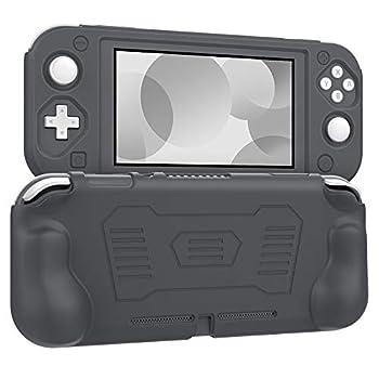 MoKo Grip Case Compatible with Nintendo Switch Lite Anti-Collision Non-Slip Shockproof Silicone Case Cover Shell Compatible with Nintendo Switch Lite 2019 - Gray