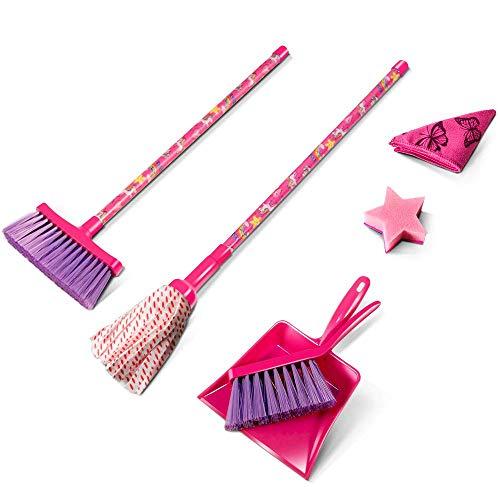 MASTERTOP Kinder Reinigung Set,6 pcs Kinder Kehrschaufel Set Handfeger Besen und Kehrset Spielzeug für Kinder