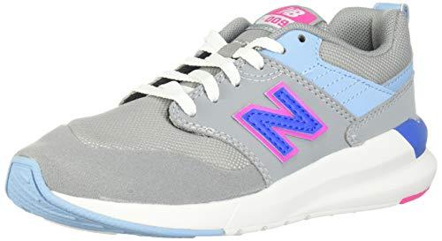 New Balance Girls' 009 V1 Running Shoe, Steel/Peony, 12 M US Little Kid