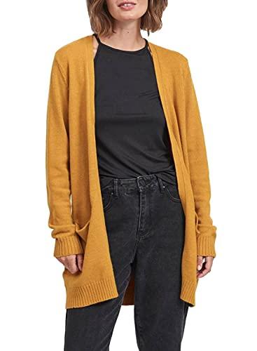 Vila Clothes Damen VIRIL Open L/S Knit Cardigan-NOOS Strickjacke, Chai Tea, L