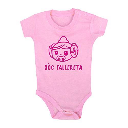 ClickInk Body bebé Sòc fallereta. Bebé fallero. Regalo bebé. Regalos para bebés. Regalo divertido. Regalo original. Bebé friki. Regalo friki. Body friki. Body bebé algodón. Manga corta.