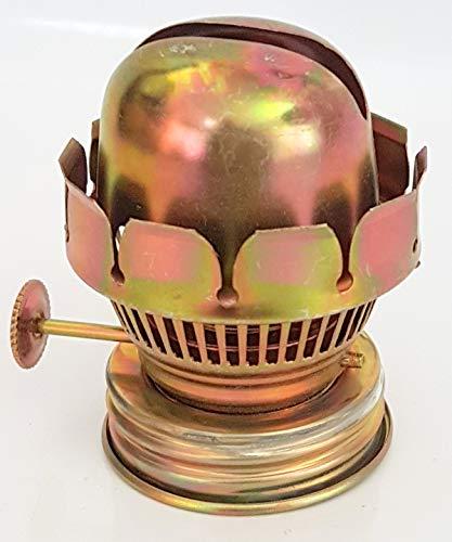 Oberstdorfer Glashütte Mittlerer Ersatz Brenner für Öllampen Petroleumlampen für Flachdochte Breite 15 mm mit Gewindering Gewinde Innen und Außen Höhe 55 mm Gewindeinnen Ø 35 mm