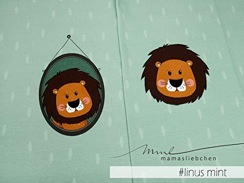 Mamasliebchen Jersey-Stoff Carnival Linus #Mint (ca. 0,6m / 1Panel) Löwe Panel