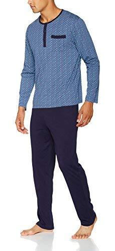 Damart Ensemble de Pyjama, Bleu (Marine Imprimé), Small (Taille Fabricant: 86/93) Homme