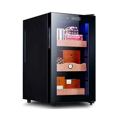 EVEN Zigarre Elektroschrank Humidor Touchscreen Zur Steuerung von Temperatur und Luftfeuchtigkeit Zedernholzregal 360 ° Luftgekühlt