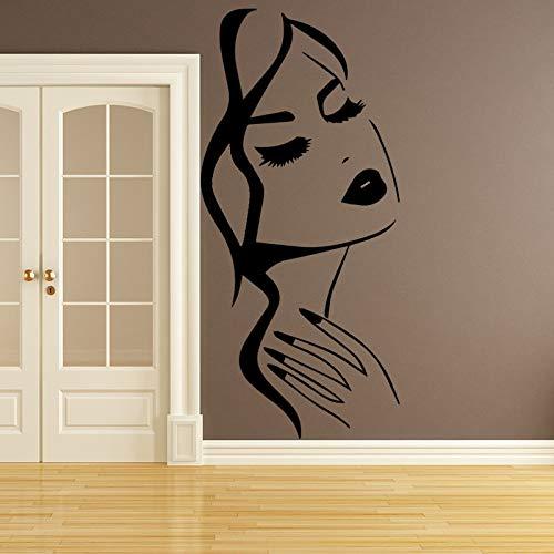 Tianpengyuanshuai Pretty Woman muursticker, decoratie voor thuis, afneembaar, vinyl, woonkamer / slaapkamer