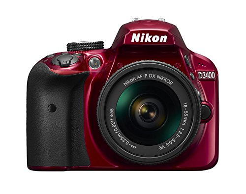 Nikon D3400 w/ AF-P DX NIKKOR 18-55mm f/3.5-5.6G VR (Red)