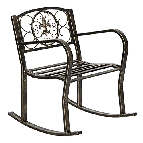 XPT eumallxpt - Cepillo de pintura clásica para muebles de jardín (hierro individual, estilo informal, color negro