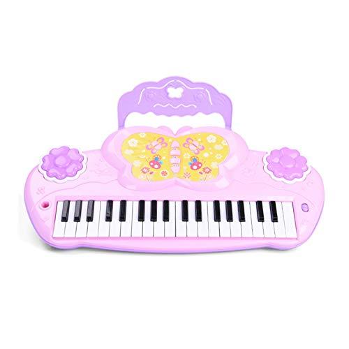 WFF Spielzeug Kinder elektronisches Piano Light Standard 37 Schwarze und weiße Tasten Multifunktions Klavier Mädchen Spielzeug (Color : 2pieces)