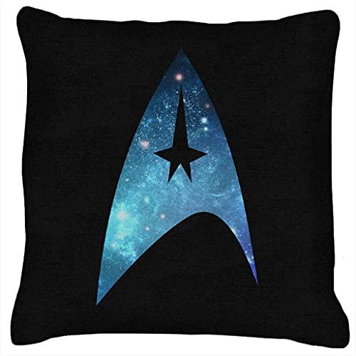 Sli8zhen Star Trek Galaxy Silhouette Star Fleet Logo Kissen 45,7 x 45,7 cm