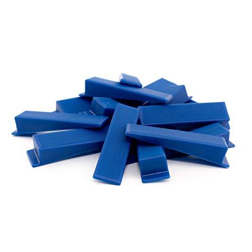 Lantelme 100 Stück Fliesen Keile für Zuglaschen Nivelliersystem Keil Boden Wandmontage Verlegesystem Verlegehilfe 4834