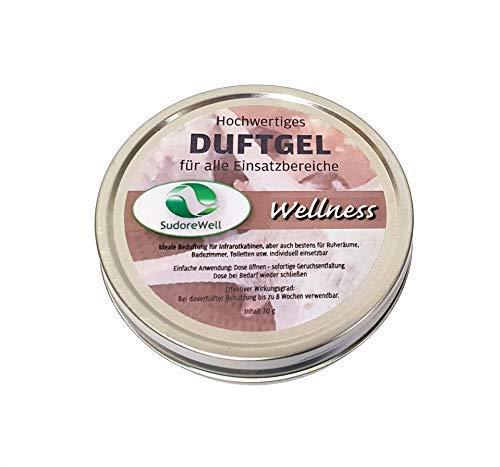 SudoreWell Duftgel 'Wellness' für Sauna, Infrarotkabine und Badezimmer, 20g Dose