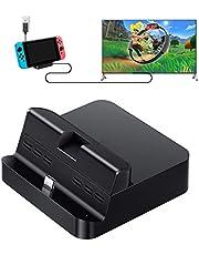 GuliKit Switch Dock Set Base de Carga Portatil, USB C a HDMI TV Adaptador para Nintendo Switch, PD Carga USB Hub Compatible con Macbook Pro iPad Pro,Samsung Galaxy DeX Huawei