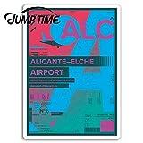 Sticker de carro Tiempo de salto para el aeropuerto de alicante pegatinas de vinilo etiqueta de españa equipaje portátil impermeable dwaterproof accesorios de coche de agua calcomaníaestilo A