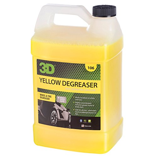 3D Yellow Degreaser Wheel & Tire Cleaner | Highly Concentrated Degreaser & Cleaner | Safe for All...
