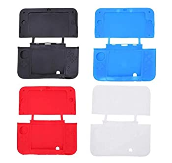 Silicone Rubber Case Protective Soft Gel Cover Skin Shell for Nintendo New 3DS LL 3DS XL  Black