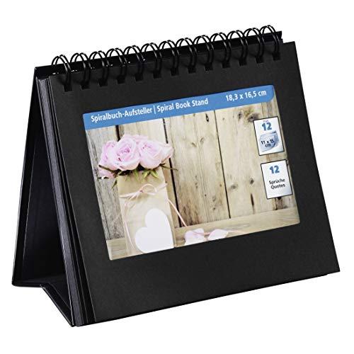 Hama Spiralbuch-Aufsteller (für 12 Bilder im Format bis 18,3x16,5 cm, mit Sprüchestickern zum Aufkleben) schwarz
