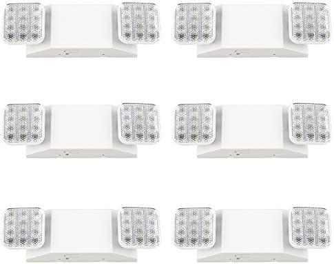 Sunco Lighting 6 Pack Double Sided LED Emergency Light Fixture Two LED Flood Lights Backup Battery product image