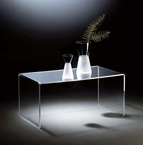 HOWE-Deko Hochwertiger Acryl-Glas Couchtisch, klar, 90 x 50 cm, H 42 cm, Acryl-Glas-Stärke 12 mm