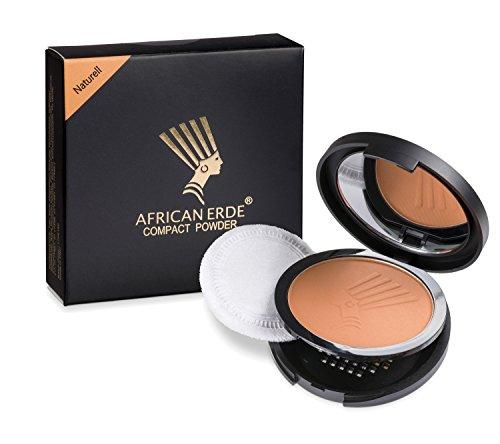Bronzing Puder - African Erde Compact Powder'Naturell' - ohne Glitter, Mineralpuder, Spiegel Case,