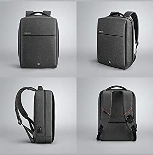 Winking Business Travel Computer Bag with USB Charging Port Anti-Theft Water Resistant for 15.6-inch Laptop(Dark Grey)