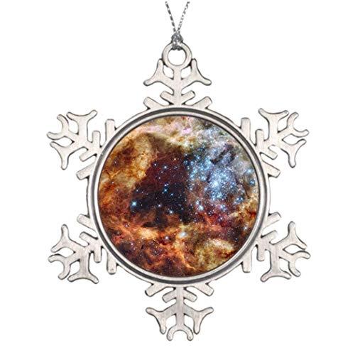 Cukudy Hubble Telescoop Afbeelding Foto Kerstmis Apple Grappige Sneeuwvlok Ornament Ideeën voor het verfraaien van kerstbomen Presenten
