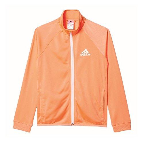 adidas Mädchen Trainingsanzug YG S Entry TS, Orange/Schwarz, 152