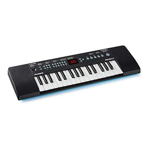 Alesis Melody 32 – Teclado electrónico, mini piano digital portátil de 32 teclas con altavoces integrados, 300 sonidos incorporados, 40 demos, conectividad USB-MIDI
